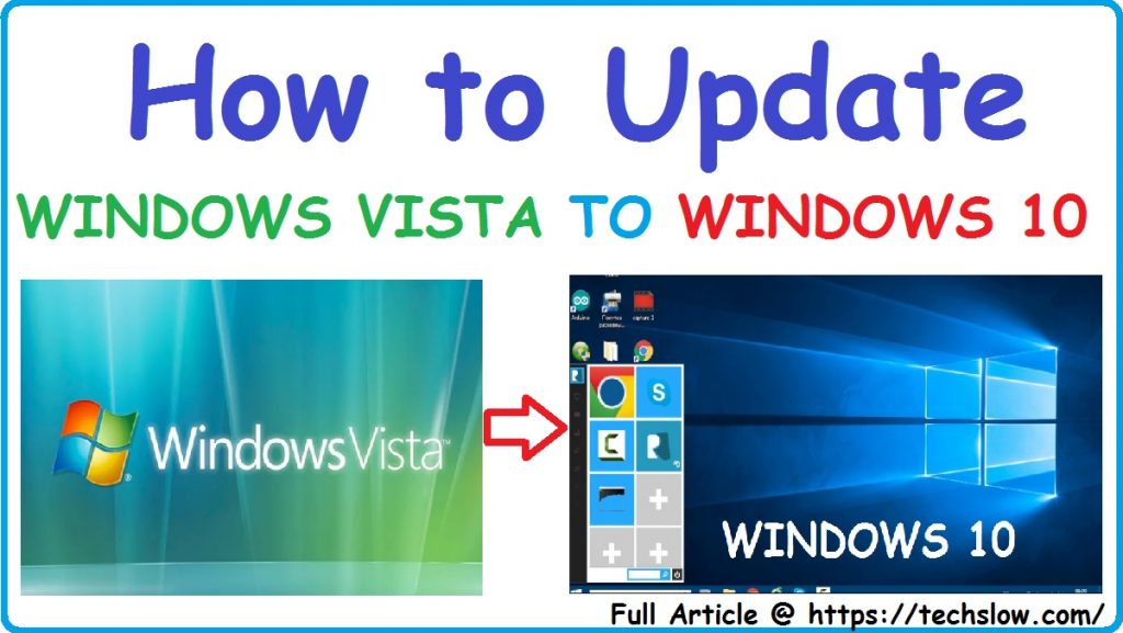 upgrade windows vista to windows 10 for free without cd